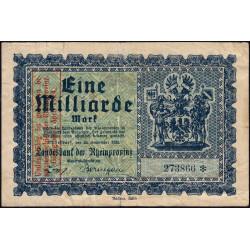 Prusse - Rheinprovinz - Pick non réf. - 1 milliard mark - Sans série - 20/09/1923 - Etat : TB+