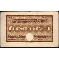 Prusse - Rheinprovinz - Pick non réf. - 100'000 mark - Série 2 - 01/07/1923 - Etat : TTB-