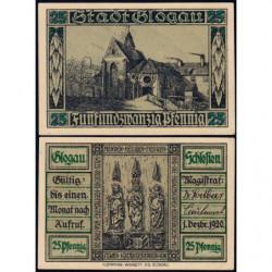 Pologne - Notgeld - Glogau (Glogow) - 25 pfennig - 01/12/1920 - Etat : NEUF