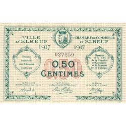 Elbeuf - Pirot 55-9 - 50 centimes - 1917 - Etat : SUP