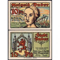 Pologne - Notgeld - Daber (Dobra Nowogardzka) - 10 pfennig - 01/05/1921 - Etat : NEUF
