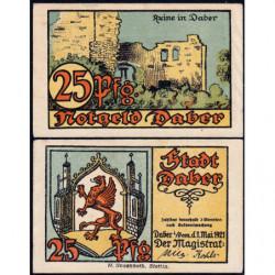 Pologne - Notgeld - Daber (Dobra Nowogardzka) - 25 pfennig - 01/05/1921 - Etat : SPL