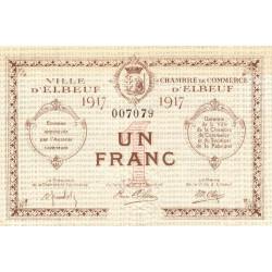 Elbeuf - Pirot 55-11 - 1 franc - 1917 - Etat : SPL