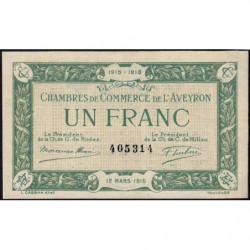 Rodez et Millau - Pirot 108-5 variété - Sans série - 1 franc - 12/03/1915 - Etat : SUP
