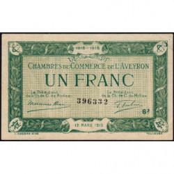 Rodez et Millau - Pirot 108-9 - Série 2 - 1 franc - 12/03/1915 - Etat : SUP+