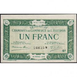 Rodez et Millau - Pirot 108-9 - 1 franc - Série 2 - 12/03/1915 - Etat : SUP+ à SPL