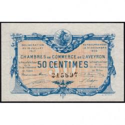 Rodez et Millau - Pirot 108-11a - Série 1 - 50 centimes - 19/07/1917 - Etat : SPL