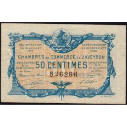 Rodez et Millau - Pirot 108-11b - 50 centimes - Série 1 - 19/07/1917 - Etat : SUP