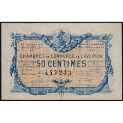 Rodez et Millau - Pirot 108-11 variété - Série 2 - 50 centimes - 19/07/1917 - Etat : SUP