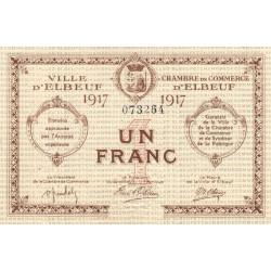 Elbeuf - Pirot 55-11 - 1 franc - 1917 - Etat : SUP-