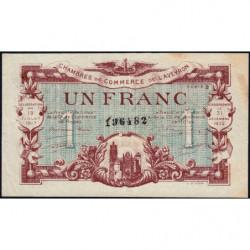 Rodez et Millau - Pirot 108-14a - Série 3 - 1 franc - 19/07/1917 - Etat : TTB