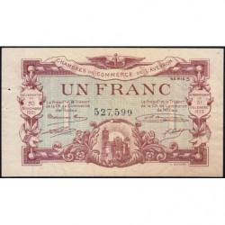Rodez et Millau - Pirot 108-18 variété - Série 5 - 1 franc - 30/11/1921 - Etat : SUP+