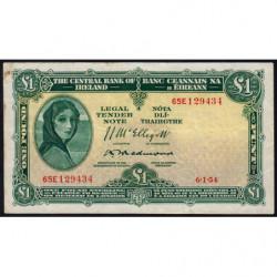 Irlande - Pick 57c - 1 pound - 06/01/1954 - Etat : TTB