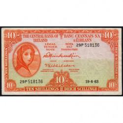 Irlande - Pick 63 - 10 shillings - 19/06/1963 - Etat : TTB-
