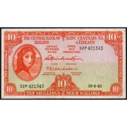 Irlande - Pick 63 - 10 shillings - 19/06/1963 - Etat : TTB