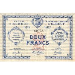 Elbeuf - Pirot 55-13 - 2 francs - 1917 - Etat : SUP