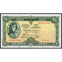 Irlande - Pick 64c_2 - 1 pound - 17/05/1974 - Etat : pr.NEUF