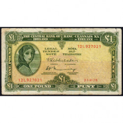 Irlande - Pick 64c_2 - 1 pound - 21/04/1975 - Etat : TB
