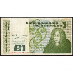Irlande - Pick 70a - 1 pound - 11/10/1977 - Etat : TB