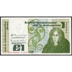 Irlande - Pick 70a - 1 pound - 11/10/1977 - Etat : pr.NEUF