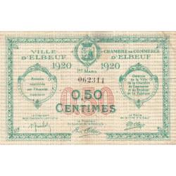 Elbeuf - Pirot 55-15 - 50 centimes - 01/03/1920 - Etat : TB+