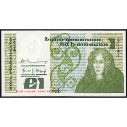 Irlande - Pick 70b - 1 pound - 18/01/1979 - Etat : TTB+