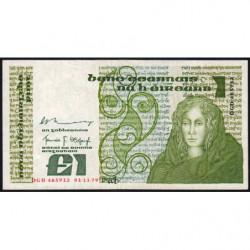 Irlande - Pick 70b - 1 pound - 01/11/1979 - Etat : TB+
