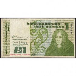 Irlande - Pick 70b - 1 pound - 08/10/1980 - Etat : TB-