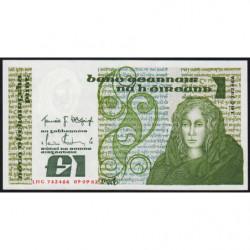 Irlande - Pick 70c - 1 pound - 09/09/1982 - Etat : pr.NEUF