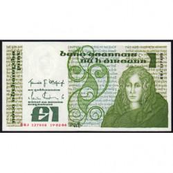 Irlande - Pick 70c - 1 pound - 19/02/1986 - Etat : SPL