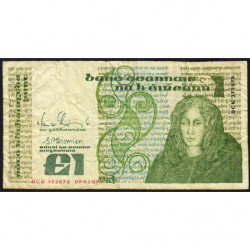Irlande - Pick 70d - 1 pound - 09/01/1989 - Etat : B+