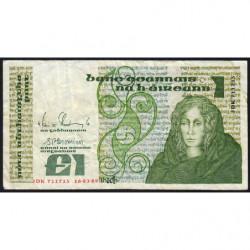 Irlande - Pick 70d - 1 pound - 16/03/1989 - Etat : TB-