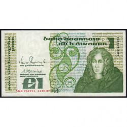 Irlande - Pick 70d - 1 pound - 12/04/1989 - Etat : TTB-
