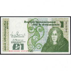 Irlande - Pick 70d - 1 pound - 17/07/1989 - Etat : NEUF