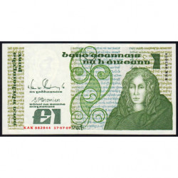 Irlande - Pick 70d - 1 pound - 17/07/1989 - Etat : SUP+
