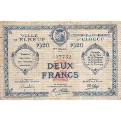 Elbeuf - Pirot 55-20 - 2 francs - 01/03/1920 - Etat : TB