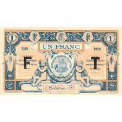 Aurillac (Cantal) - Pirot 16-8 variété - 1 franc - Série F - 1915 - Etat : SUP