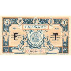 Aurillac (Cantal) - Pirot 16-8b - Série F - 1 franc - 1915 - Etat : SUP
