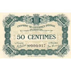 Epinal - Pirot 56-1 - 50 centimes - Petit numéro - 1920 - Etat : SPL