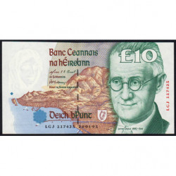 Irlande - Pick 76b - 10 pounds - 24/04/1995 - Etat : NEUF