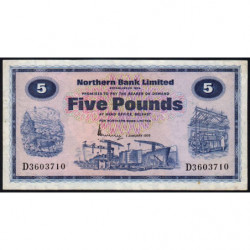 Irlande du Nord - Northern Bank - Pick 188c - 5 pounds - 01/01/1976 - Etat : TTB-
