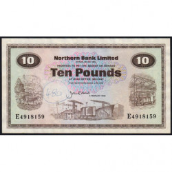Irlande du Nord - Northern Bank - Pick 189e - 10 pounds - 03/02/1986 - Etat : TB+