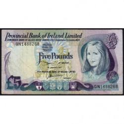 Irlande du Nord - Provincial Bank - Pick 248a - 5 pounds - 01/01/1977 - Etat : TB