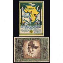Allemagne - Notgeld - Berlin - Colonies allemandes - 75 pfennig - Série B - 04/11/1921 - Etat : TTB+