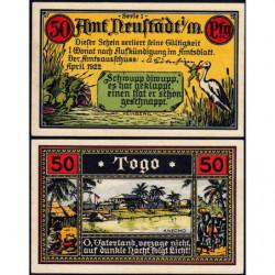 Allemagne - Notgeld - Neustadt - Colonies allemandes - 50 pfennig - Série 1 - 04/1922 - Etat : pr.NEUF