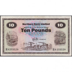 Irlande du Nord - Northern Bank - Pick 189b - 10 pounds - 01/10/1971 - Etat : TTB