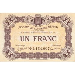 Epinal - Pirot 56-10a - 1 franc - Chiffre 1 - 1920 - Etat : SUP+