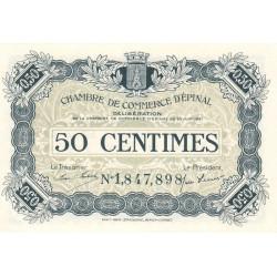Epinal - Pirot 56-12a - 50 centimes - Chiffre 1 - 1921 - Etat : SUP