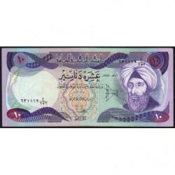 Irak - Pick 71_2 - 10 dinars - 1981 - Etat : TTB+