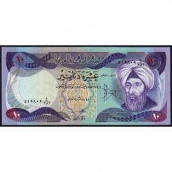 Irak - Pick 71_3 - 10 dinars - 1982 - Etat : SPL